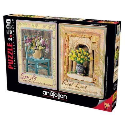 Anatolian Puzzle 2x500 Parça Tebessüm Gerçek Aşk 3610