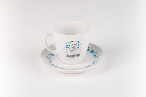 Can Dükkan Dostoyevski Kahve Fincanı (Fincan+Tabak)