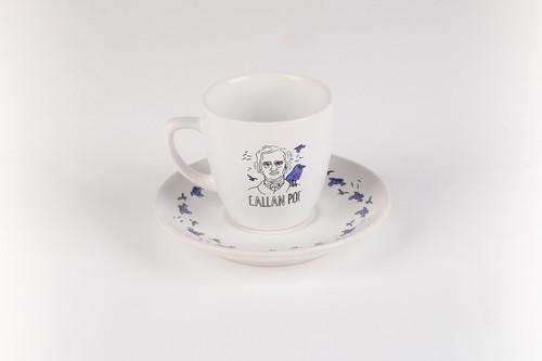 Can Dükkan Edgar Allen Poe Kahve Fincanı (Fincan+Tabak)