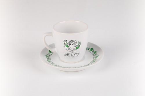 Can Dükkan Jane Austen Kahve Fincanı (Fincan+Tabak)