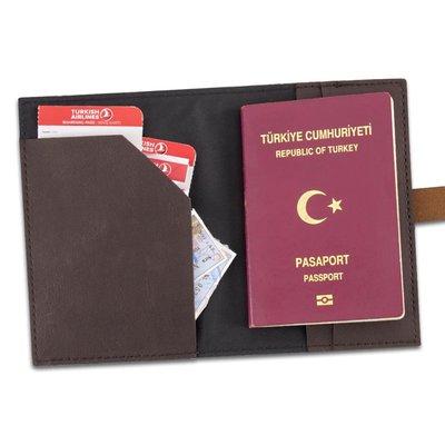Le Color Deri Pasaport Çantası