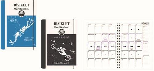 Keskin Color Ajanda Haftalık Aydan Çelik Bisiklet Manifesto 10x15