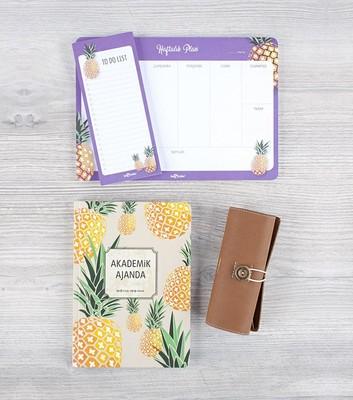 LeColor Akademik Ajanda Ananas Set 2019