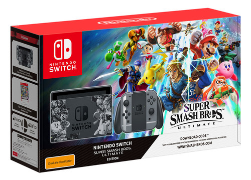 Nintendo Switch Konsol Super Smash Ultimate Paketi