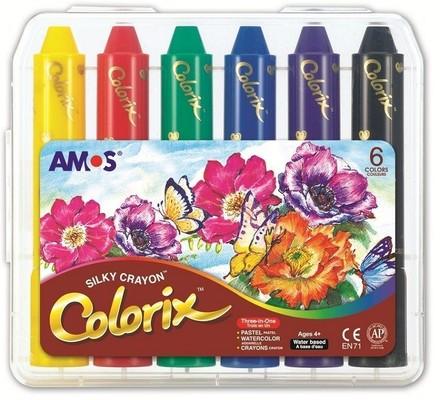 Amos Pastel Boya Colorix Üçü Bir Arada 6Lı