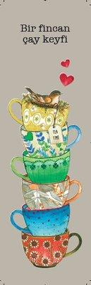 G.Alfa Ayraç Bir Fincan Çay Keyfi-Keyif Serisi Kitap Ayraçları