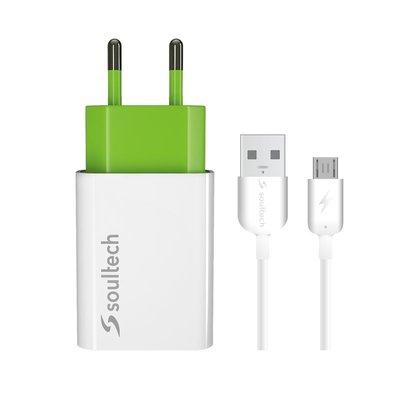 Soultech Comfort Micro Seyahat Şarj Cihazı ve Kablo 2100 Mah Hızlı Beyaz SC212B