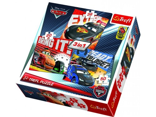 Trefl-Puzzle 3in1 After the Race/Disney Cars 2 34819