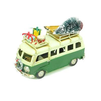 Self Desing Dekoratif Nostaljik Metal Minibüs Yeşil