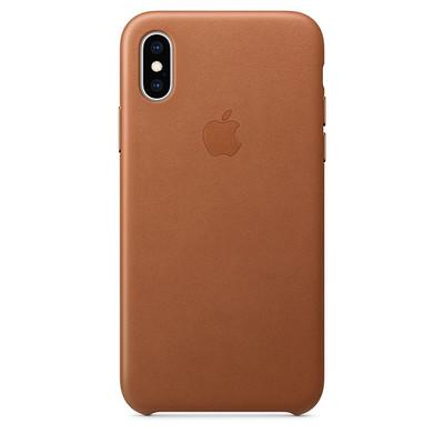Apple iPhone XS Telefon Kılıfı Kahverengi ZML MRWK2ZM/A