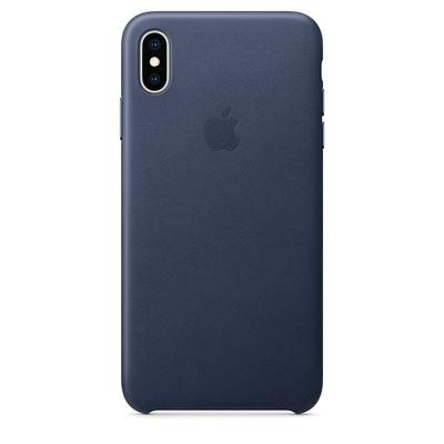 Apple iPhone XS Max Leather Case Telefon Kılıfı Mavi ZML MRWQ2ZM/A