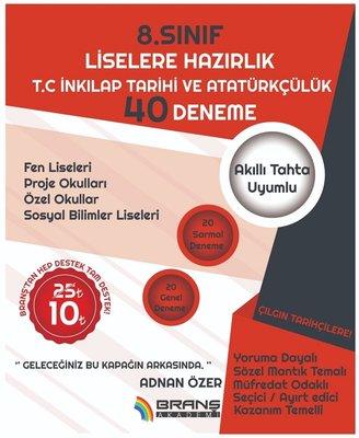 2019 LGS 8.Sınıf T.C.İnkılap Tarihi ve Atatürkçülük 40 Deneme