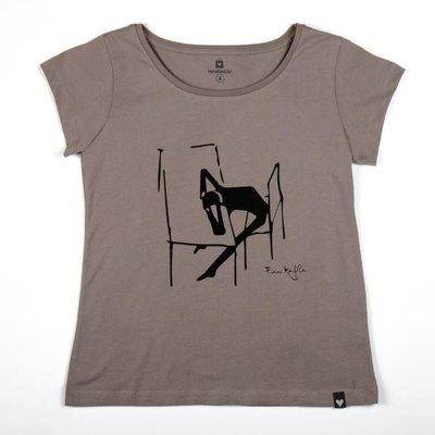 Can Dükkan T-Shirt Kadın L Kafka (Desen)