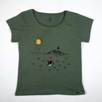 Can Dükkan T-Shirt Kadın M Küçük Kara Balık (Deniz)