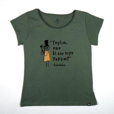 Can Dükkan T-Shirt Kadın L Raskolnikov (Suç ve Ceza)