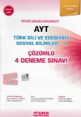 AYT Türk Dili Ve Edebiyatı Sosyal Bilimler 1-Çözümlü 4 Deneme Sınavı-Orta ve İleri Seviye