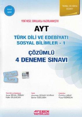 AYT Türk Dili Ve Edebiyatı Sosyal Bilimler 1-Çözümlü 4 Deneme Sınavı-Temel ve Orta Düzey