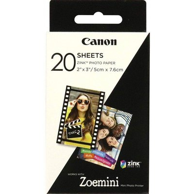 Canon Zink Paper Zp-2030 20 Sheets Exp Hb