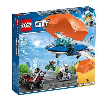 Lego City Gökyüzü Polisi Paraşütle Tutuklama 60208