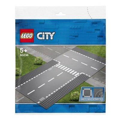 Lego City Düz ve T Kavşak (60236)