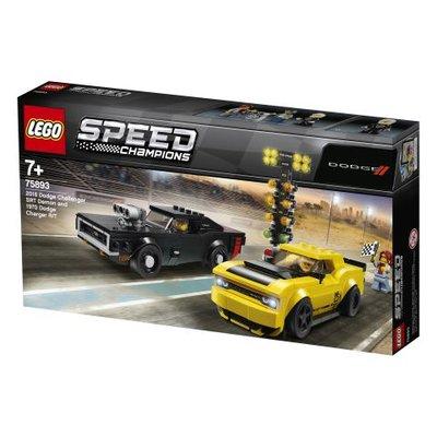 Lego Speed 2018 Dodge Challenger SRT Demon ve 1970 Dodge Charger R/T (75893)