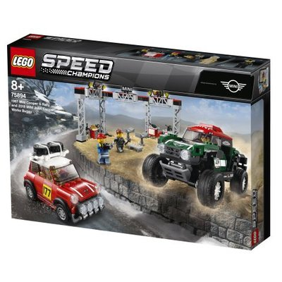 Lego Speed 1967 Mini Cooper S Ralli ve 2018 Mini John Cooper Works Buggy (75894)