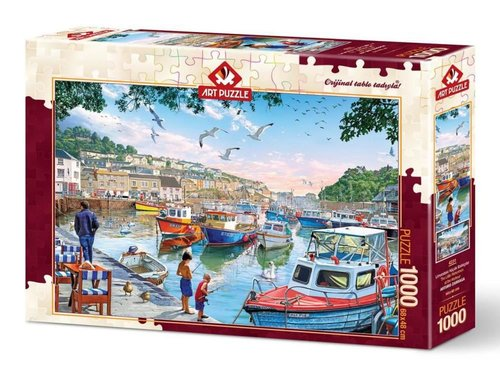 Art-Puz.1000 Limandaki Küçük Balıkçılar 4231