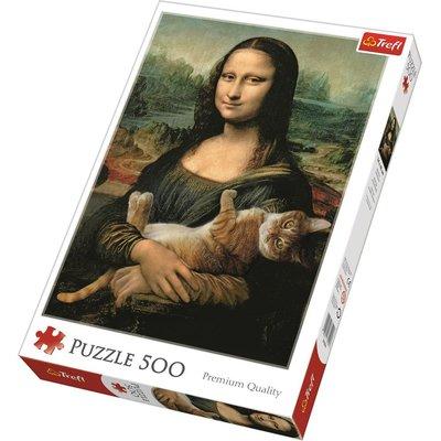 Trefl Puzzle Mona Lisa And Purring Kitty 500 Parça37294