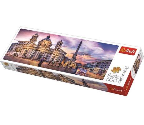 Trefl 500 Parça Roma Navona Meydanı Panorama Puzzle 29501