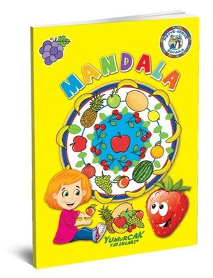 Meyve-Sebzeler Mandala Boyama