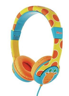 Trust Urban Çocuklar için SPILA Mikrofonlu Kulak Üstü Kulaklık Zürafa Desenli