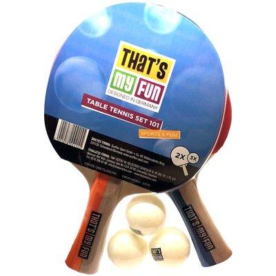 Table Tennis Set 101 (2 Raket + 3 Top)