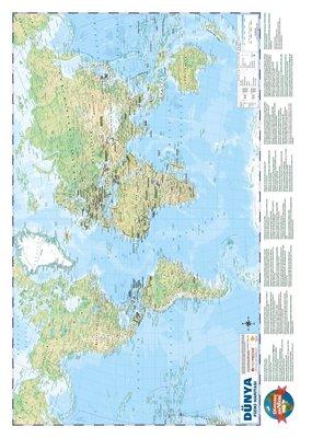 Dünya Siyasi-Fiziki Haritası 50x70