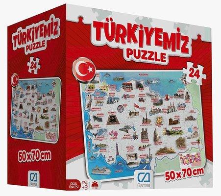 Ca Games 5079 Türkiyemiz Yer 24 Parça Puzzle
