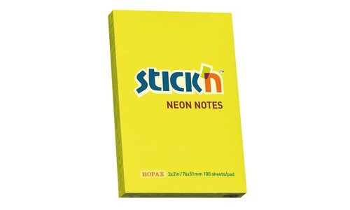 Hopax Not Kağıt  Stickn Neon Sarı 100Yp
