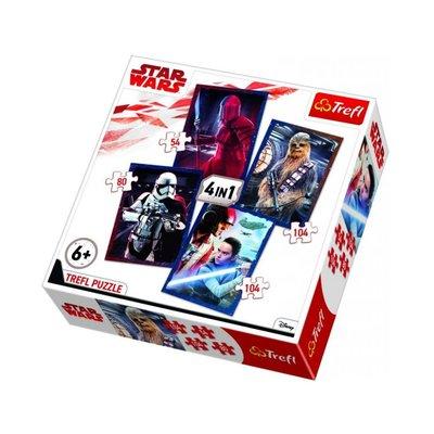 Trefl Puzzle 4in1 Ready To Battle Star Wars Episde 34277