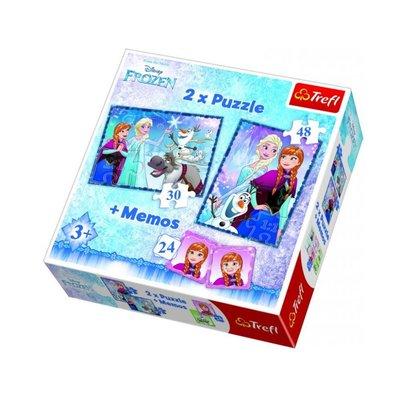 Trefl Puzzle 2in1+Memos Disney Frozen Sisters 90617