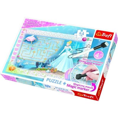 Trefl Puzzle 54 Plus Marker Disney Princess 75112