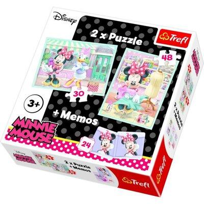 Trefl 90605 2'li ve Memos Minnie's Hobby Disney Puzzle