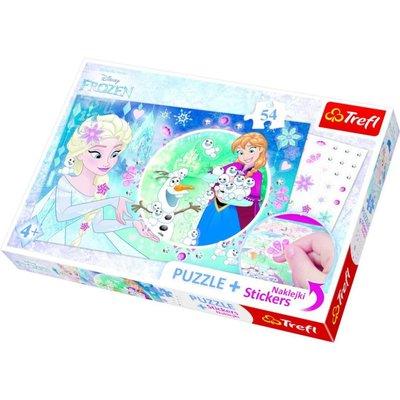 Trefl Puzzle 54 Plus Stickers Disney Frozen 75115