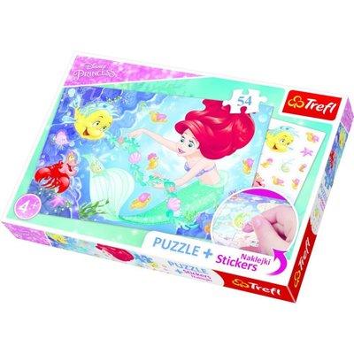 Trefl Puzzle 54 Plus Stickers Disney Princess 75114