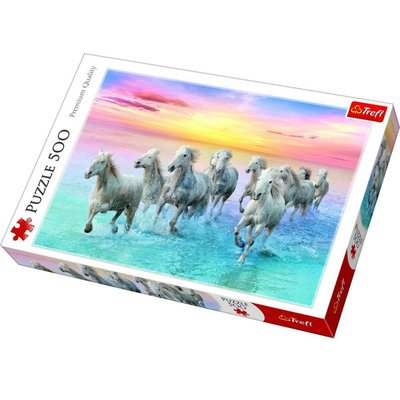 Trefl Puzzle 500 Galloping White Horses 37289