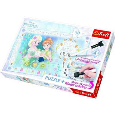 Trefl Puzzle 70 Plus Marker Frozen Disney 75111