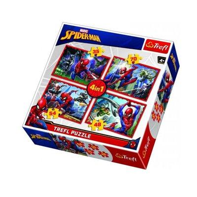 Trefl Puzzle 4in1  Spiderman's Web 34293