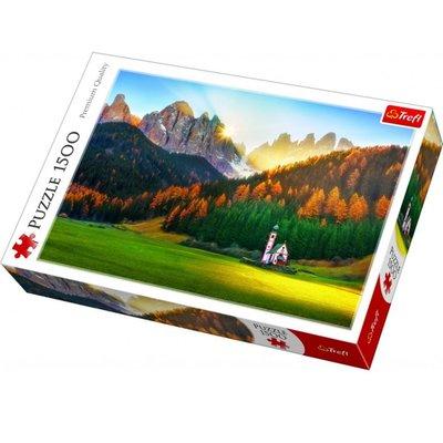 Trefl Puzzle 1500 Church in Dolomites 26134
