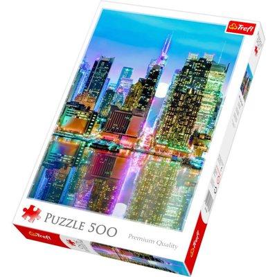 Trefl Puzzle 500 Full Moon Over The Manhattan 37261