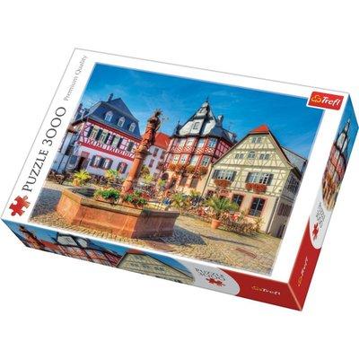 Trefl Puzzle Market Square Heppenheim 3000 Parça 33052