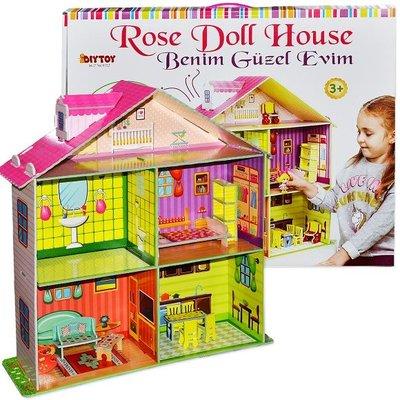 DiyToy-Rose Doll House Benim Güzel Oyun Evim