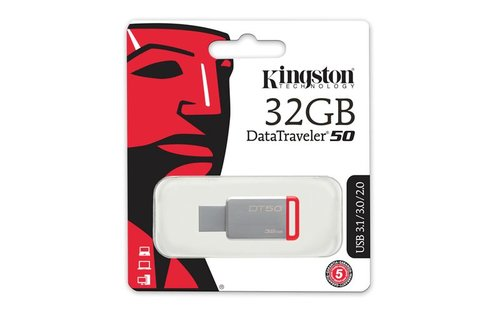 Kingston Metal Kasa USB 3.1 Flash DT50/32GB