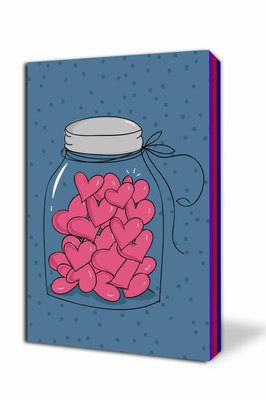 Thinkbook Bir Kavanoz Kalp 11x14 Renkli Defter